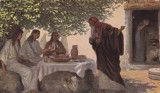 """CARTE POATALA """"AVRAAM SI CEI TREI INGERI"""", Printata, Europa"""