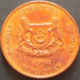 Moneda 1 CENT - SINGAPORE, anul 1994 *cod 5186 - UNC, Asia