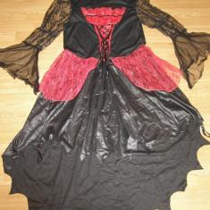 costum carnaval serbare rochie medievala vrajitoare pentru adulti marime XL