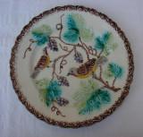 Farfurie decorativa veche din majolica suedeza marcata 230