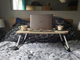 Cumpara ieftin Masuta pliabila suport laptop/tableta maro deschis