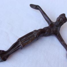 Impresionant crucifix din bronz, inceput de secol 20