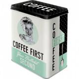 Cutie de depozitare metalica - Coffee First