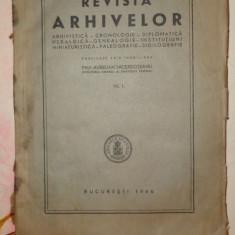 Revista arhivelor VII.1/an 1946/216pagini- Aurelian Sacerdoteanu