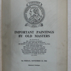 CATALOGUE OF IMPORTANT PAINTINGS BY OLD MASTERS , 1962