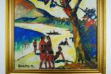 Tablou pictura Andor Dudits (1866–1944) - La plaja