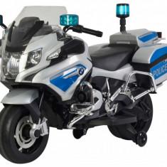 Motocicleta electrica de politie BMW II, alb cu albastru