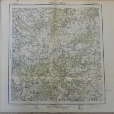 Sighisoara si Cristur// harta Serviciul Geografic Armatei 1916