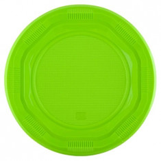 Set farfurii unica folosinta, verde, 8 bucati, 26 cm