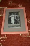 fotografie vechi atelier ,distinsa familie Romania Regala ,16cmx10cm ,inramata