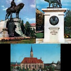 Cluj Napoca : harta + 3 ilustrate circulate vintage