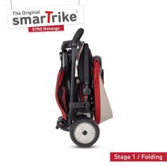 Tricicleta pliabila Smart Trike 7 in 1 STR5 Rosu dotata cu frana si scaun rabatabil