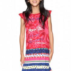 Rochie fete, cu imprimeu geometric Wilminton, Desigual, Marimea 9-10 ani, Multicolor