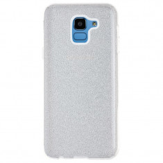 Husa Silicon Samsung Galaxy J6 2018 Glitter Argintie