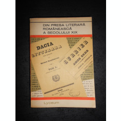 DIN PRESA LITERARA ROMANEASCA A SECOLULUI XIX