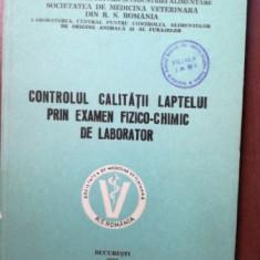 Controlul calitatii laptelui prin examen fizico-chimic de laborator