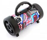 Boxa Portabila Bluetooth BoomBox cu MP3, Radio FM, USB, Card microSD, AUX Jack, Putere 5W