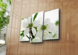 Tablou decorativ pe panza Horizon, 3 Piese, 237HRZ1289, Multicolor