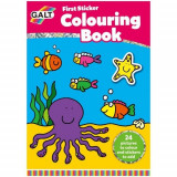 First Sticker Colouring Book - Prima Carte de Colorat + Abtibilduri