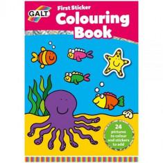 First Sticker Colouring Book - Prima Carte de Colorat + Abtibilduri