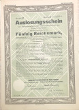 50 Reichsmark titlu de stat Germania 1927