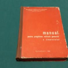 MANUAL DE PREGĂTIRE MILITARĂ GENERALĂ A TINERETULUI/1968
