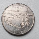 Moneda 25 cents / centi SUA 2005 Oregon, litera P