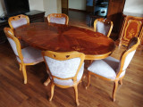 Gioconda Set masa cu 6 scaune si set masuta cafea cu fotolii