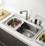 Chiuveta bucatarie inox CookingAid ARTEMIS cu dozator detergent, cuva secundara
