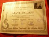 Diploma Master Class- Fundatia Romana de Chitara- Festival Internat.2015