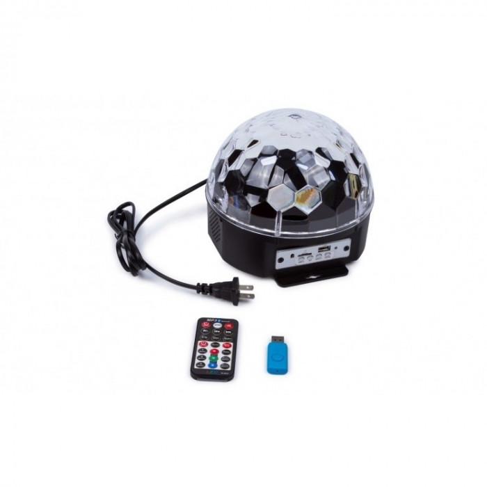 Glob disco cu MP3 Player, Difuzoare, Led-uri si Telecomanda