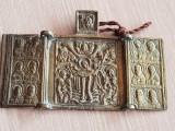Triptic vechi- icoana ortodoxa - Rusia veche - secol XIX - bronz
