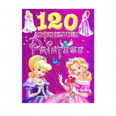Carte 120 abtibilduri Printese, editura Girasol