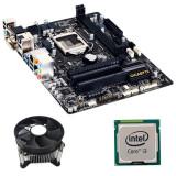 Kit Placa de Baza Refurbished GIGABYTE GA-H81M-HD3, Intel i3-4160, Cooler
