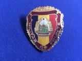 Insignă militară - Militar de frunte - variantă mică - stemă mică 1980