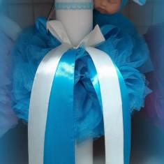 Lumanare de botez pentru fetite si baieti - ALBASTRU2471