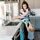 Sistem Purtare Baby Ktan Baby Carrier Print - Navy Stripe - Marimea S