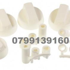 Buton aragaz universal set 4 buc, culoare alb