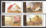 TANZANIA 1986, Fauna, Pasari, Audubon, MNH, serie neuzata, Nestampilat