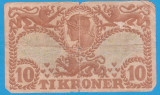 (1) BANCNOTA DANEMARCA - 10 KRONER 1939