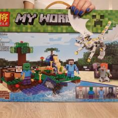 NOU/SIGILAT - Set de 318 piese tip lego Minecraft LELE 33243