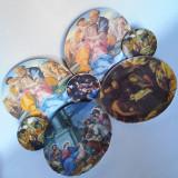 Cumpara ieftin SUPERBE! LOT 7 FARFURII DECORATIVE DIN PORTELAN - DECORATE CU PICTURI RELIGIOASE