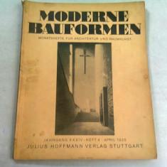 MODERN BAUFORMEN NR.4/1935 (REVISTA LUNARA DE ARHITECTURA, IN LIMBA GERMANA)