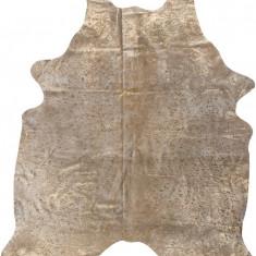 Covor din piele de bovina Rinderfell maro/auriu XL