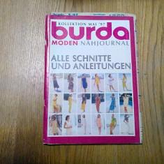 BURDA MONDEN - Kollektion Mai `97 - Revista de Moda  - 34 p.+ tipare anexate