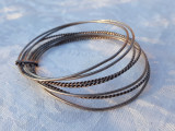 BRATARA argint TRIBALA din 7 bratari subtiri VECHE de efect SPLENDIDA vintage