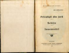 Emil Garleanu Privelisti din Tara, Schite Insemnari 1915 foto