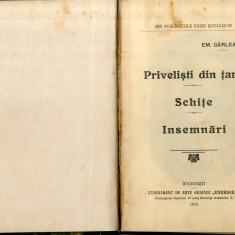Emil Garleanu Privelisti din Tara, Schite Insemnari 1915