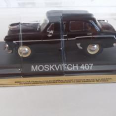 macheta moskvitch 407 + revista masini de legenda nr.19 - 1/43, noua.