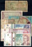 Romania - Lot bancnote vechi, circulate, uzate